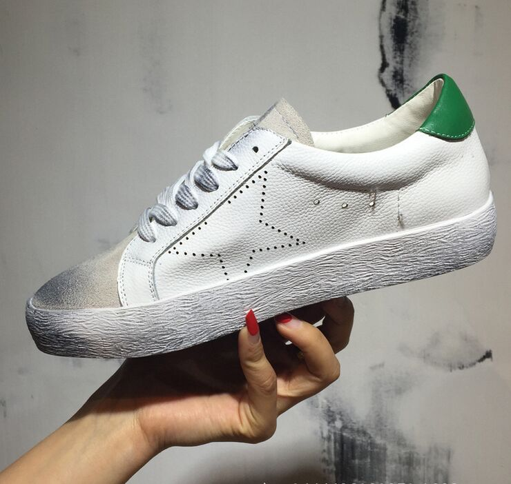 2016 Fashion Brand Original Golden Goose Women Men Casual Shoes Breathable Lace-Up Shoes Superstar Scarpe Uomini femme 750(China (Mainland))