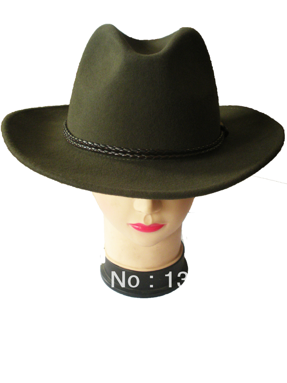 Special wholesale traditional wide brim green cowboy hats for men and ladies100% felt wear in winter ,fall and spring and topee(China (Mainland))