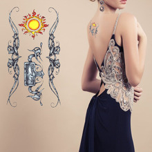 Cool temporary tattoo sticker ancient tribal sun totem for fingers wrist shoulder lower back tattoo body art(China (Mainland))