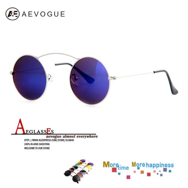 Очки aEVOGUE бесплатная доставка бренд женщин один луч круглый металлический каркас горячая распродажа солнцезащитные очки óculos UV400 AE0210