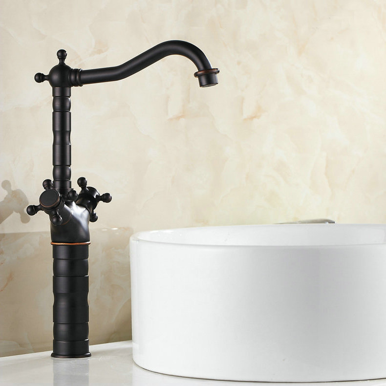 "Фотография 15"" Blackened Kitchen Swivel Brass Faucets Faucet Sink Basin Mixer Tap 9056B"