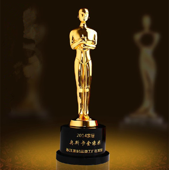 customize music metal awards trophy 23cm oscar craft