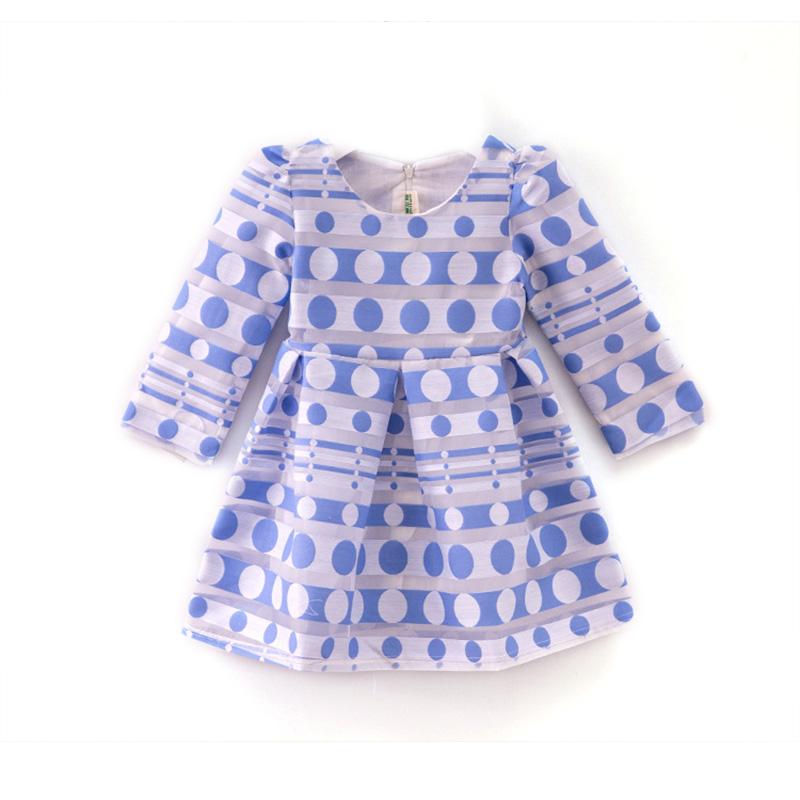 2016 New Girls Dress Kids Girl Clothes dots Floral Kids Dresses for party wedding evening dress child dress(China (Mainland))