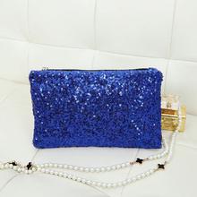 2015 New Shiny Sequins Women Day Clutches/Evening Party Handbags for Women/Fashion Zipper Bags Women