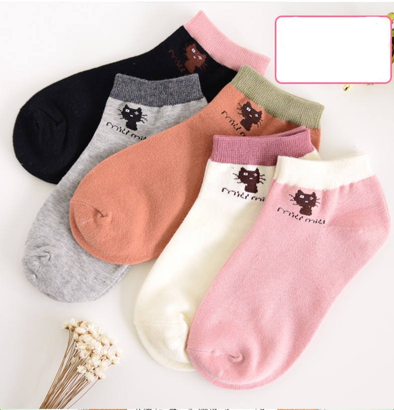 2016 Summer women's brand thin section cotton socks women's casual cute boat socks high quality (with gift box)