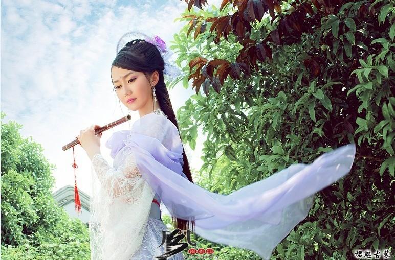 Hanfu female costume purple lace dress TV Play Seven Princesses of The Jade Emperor Purple Costume Fairy Clothes Set Одежда и ак�е��уары<br><br><br>Aliexpress