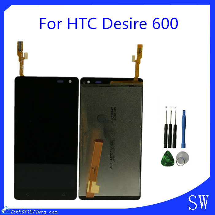 Black For HTC Desire 600 LCD Display Touch Screen Digitizer Mobile Phone Repair Part Replacement(China (Mainland))