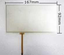 """Nuovo 6.95 """"pollici 167*93mm 167x93mm 4 wire resistive touch screen panel digitizer per c070vw03 tm070rdh01 display formato 159*86mm(China (Mainland))"""