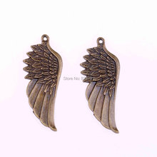 Buy Floating Locket Charms Wholesale 30pcs Bronze Color Beautiful Wing Pendant Necklace 56 * 22mm Diy Jewelry Free V1029 for $16.59 in AliExpress store