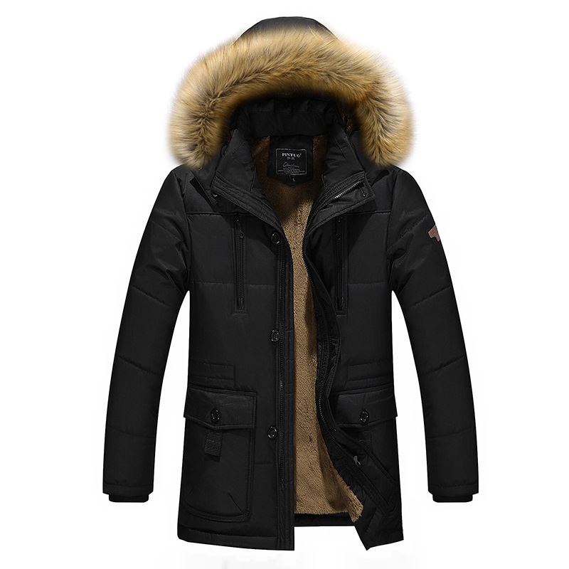 Plus Size 4XL Loose Men Jacket Long New 2016 Brand Nature Cotton Warm Autumn And Winter Mens Coats Business Casual Parka MenОдежда и ак�е��уары<br><br><br>Aliexpress