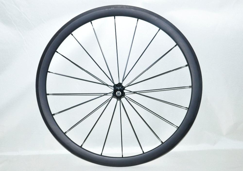 front wheels carbon fiber 38mm Novatec hub aero spokes UD matt finish road/TT/time trial/ cyclocross bike wheels clincher(China (Mainland))