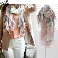168*78cm High quality Elegant Fashion Women Long Print Cotton Polyester Scarf Wrap Ladies Shawl Large Scarves 2016 HOT(China (Mainland))