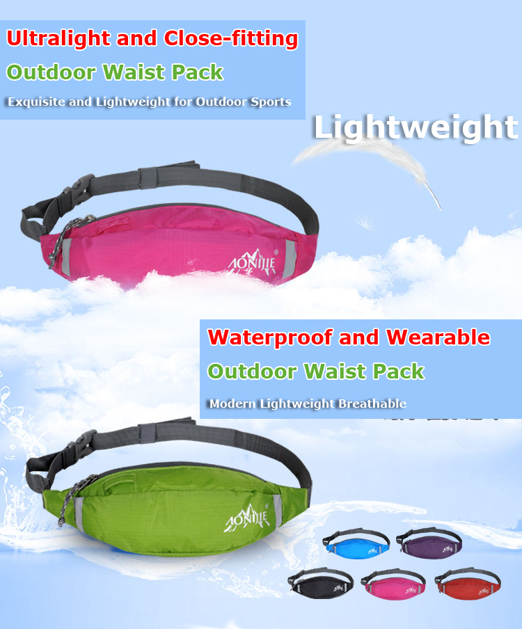 AONIJIE Multifunctional Outdoor Sports Running Waist Pack For Men And Women As Fanny Pack Bum Bag