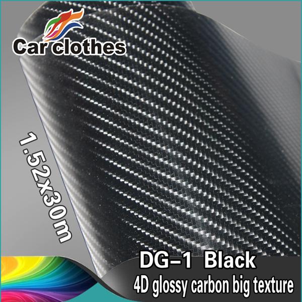 car clothers Guarantee 100% Glossy Big Texture Film 4D Carbon Fiber vinyl(China (Mainland))