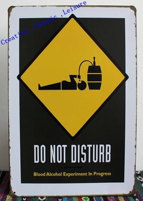 Free shipping funny drunkard Bar Sign ,Vintage pub metal sign wall art decoration Retro Art Metal painting Poster 30x20cm(China (Mainland))