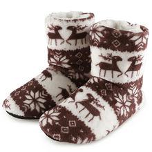 Kış ev botları bayan ayakkabıları kadın noel Elk kapalı çorap ayakkabı sıcak pamuk Bootie peluş yumuşak Botas Mujer Invierno 2019(China)