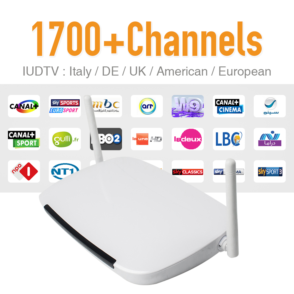Europe Arabic IPTV Channels Box Android WiFi HDMI Smart TV Box 1700 Plus Arabic French IPTV Channels Package HD Media Player