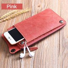 Dompet Mode Baru Dompet Wanita Kulit Asli Dompet Merek Wanita Dompet Panjang Purse Dompet Koin Saku Telepon Untuk iPhone7S(China)