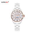 2016 New Luxury Brand LONGBO Mens Women Ceramic Watch Fashion Geneva Couple Watches Male Quartz Wrist