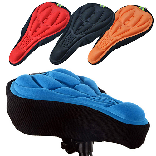 Silicone Cycling Bicycle Bike Saddle Breathable Gel Cushion Soft Pad Seat Cover(China (Mainland))