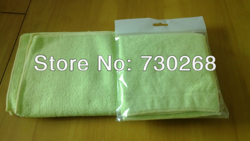 Free Shipping Wholesale 32x32cm 320gsm New Brand Microfiber Cleaning Cloth Car Wash Towel Polishing Waxing Cloth Hand Supplier(China (Mainland))