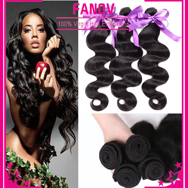 6a unprocessed malaysian body wave 4 bundles king hair extensions free ship human hair weave no tangle no shedding 8-30inch(China (Mainland))
