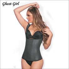 6XL Latex Vest Waist Cincher Chest Binder Body Shaper Corrector For Women Corset Slimming Plus Size Waist Training Corset Beauty