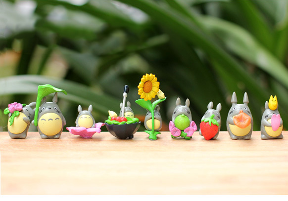 9Pcs/Lot Cute Style Kids Hot Anime My Neighbor Totoro Action Figures PVC Toys Totoro Model Toy Juguetes Gift For Children(China (Mainland))