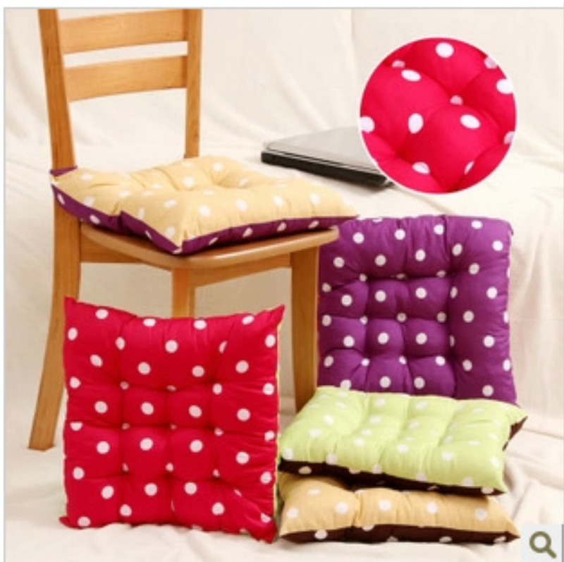 Double Colors Solid Cotton Seat Pads Chair Cushion Mat With Cord For Patio Home Car Sofa Office Tatami Cushions Home Decor-MM(China (Mainland))