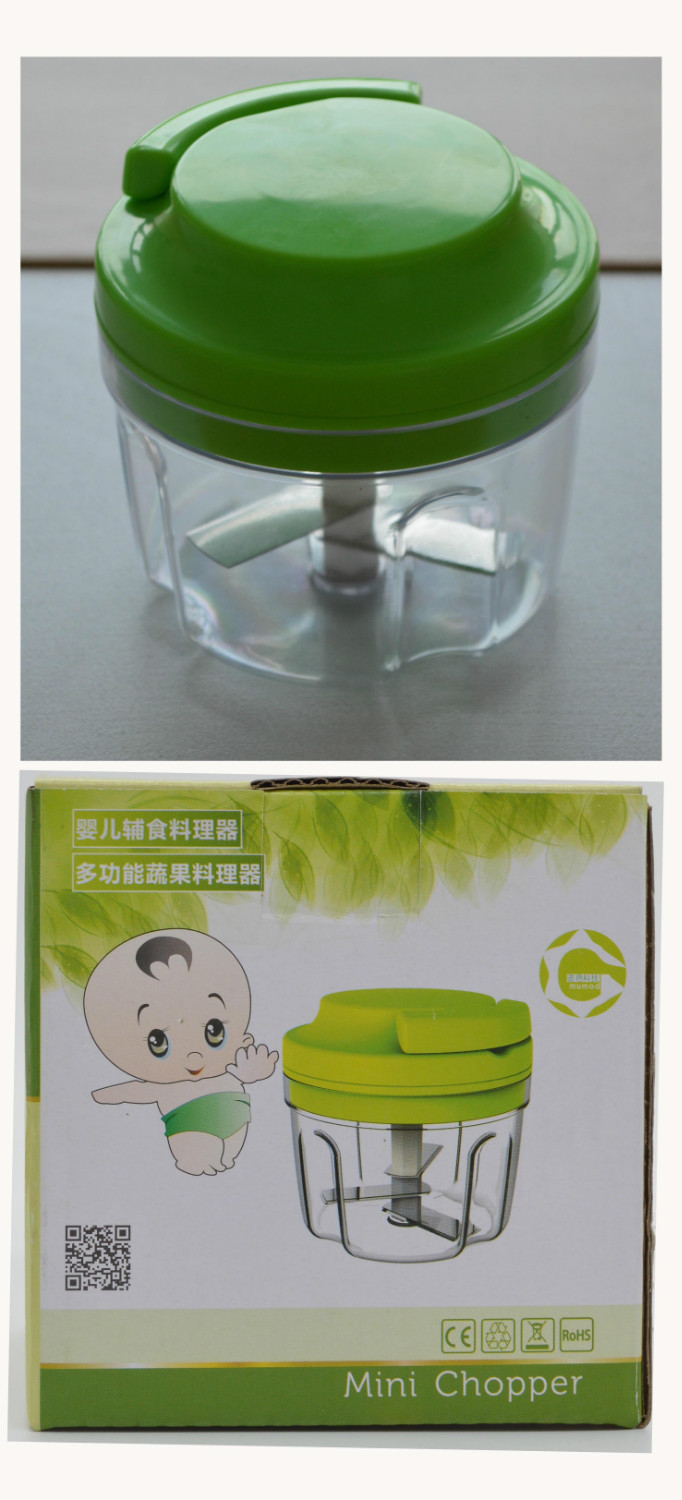 Wholesale Twister ECO Friendly Mini Chopper Chef Food Processor Blender For Baby Hand Speedy Mixing Quickly(China (Mainland))