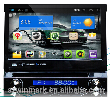 DO7088 7 inch one din in-dash car dvd player car gps car radio with pure Android 4.1.1 operation system gps etc.(China (Mainland))