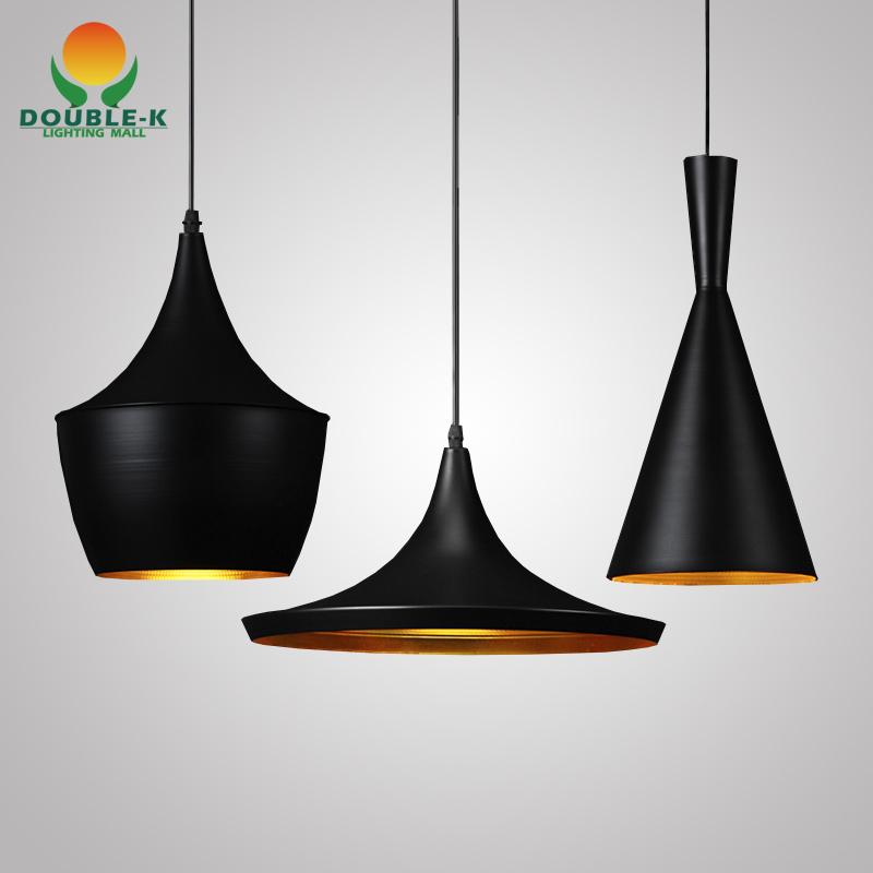 Tom Dixon Pendant Lamp Beat Light Tom Dixon Alluminum Black/White Shade Chandelier Light,ABC(Tall,Fat and Wide) ,3 Models[F594](China (Mainland))