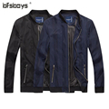 Hot Sale Men Basic long Sleeve Casual Slim Fit Jacket 2016 New Fashion High Quality Round