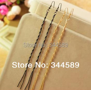 P 1351 FREE SHIPPING Most Popular Long Tassel Elegant Style Drop Earrings Delicate Alloy Gold Color  Earrings