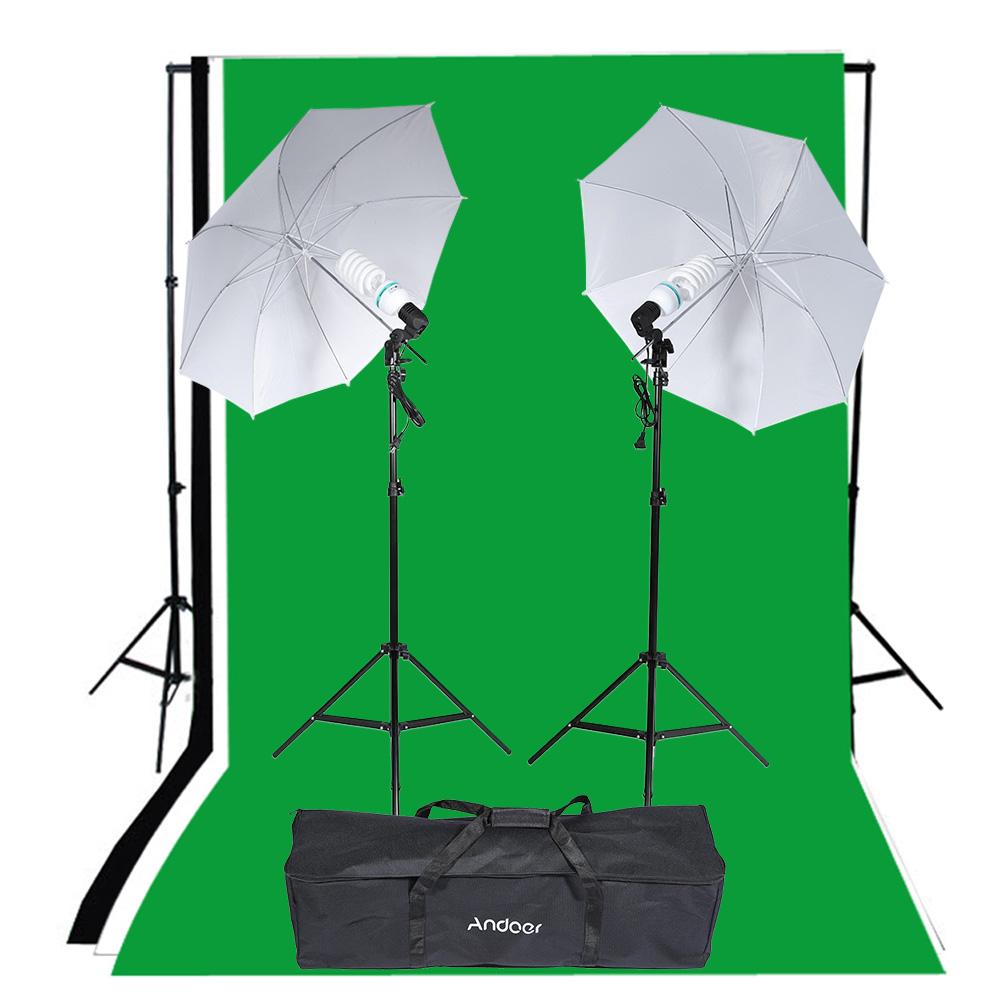 Andoer Photography Lighting Kit Studio Portrait Product Light Tent Set Photo Studio Kit Photo Video Equipment(China (Mainland))