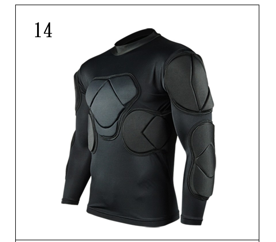 Survetement football 2017 American Football Jerseys sports safety protection thicken soccer goalkeeper jersey elbow protector(China (Mainland))