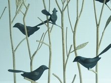 Iron Pachira ornaments entrance living birds vintage wrought iron wrought iron furnishings office auspicious tree ornaments