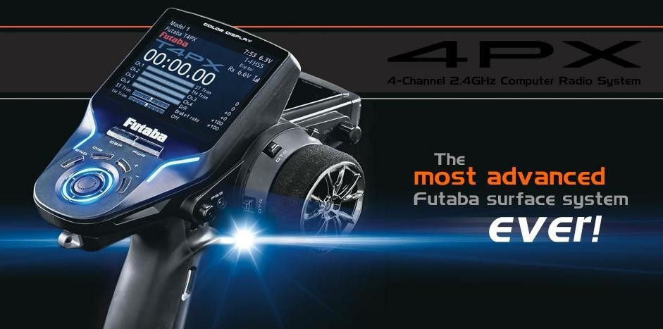 Futaba 4PX-R304SB The Most Advanced And Top 2.4GHz Computer Radio System 3.5″ LCD Screen RC Controller