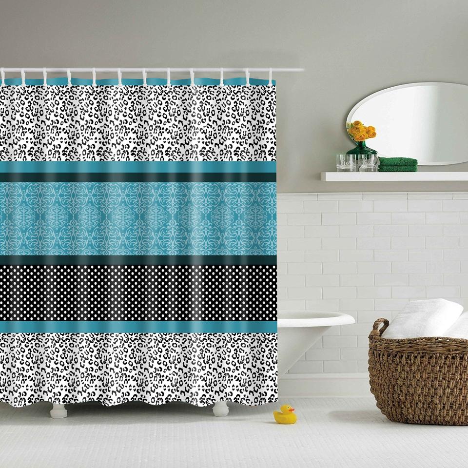 Online get cheap leopard print curtains for Leopard print bathroom ideas