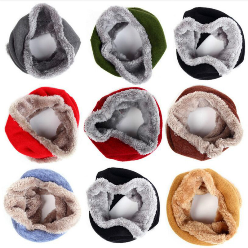 Adult Children Collar Neck Scarf Cotton Warm Windproof Sleeve Head Scarf Ring Knitted Kids Neck Warmer(China (Mainland))