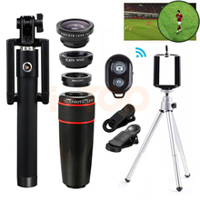 Buy Mobile lens Kit 8X Zoom Telephoto Lenses Macro Wide Angle Fish eye Lentes iPhone Xiaomi Huawei Telescope Tripod Clips for $15.92 in AliExpress store
