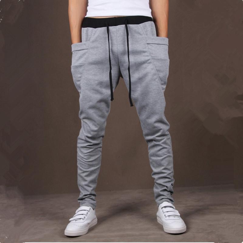 8 Colors 2015 Unique Pocket Mens Joggers Cargo Men Pants Sweatpants Harem Pants Men Jogging Sport
