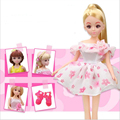 26cm Child Dolls Wedding Dress Princess Gown Fixed Style Skirt Doll Outfit For Characters Doll Girl