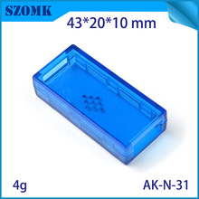 4 pieces, 43*20*10mm szomk hot sales plastic instrument usb enclosure box plastic electronic case usb flash drive enclosure(China (Mainland))