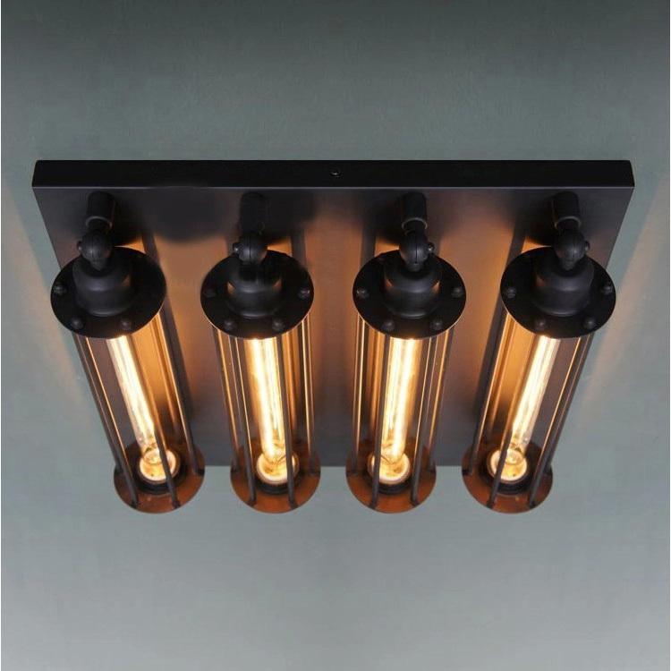 American vintage punk metal transverse ceiling light metal Edision bulbs specific art lamps(China (Mainland))