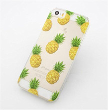 NEW NOVELTY Fruit Pineapple Transparent Case Cover For Apple iPhone 5 5S 5C 6 6 plus EC504A EC505A EC506AEC507A(China (Mainland))