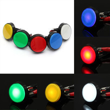 5 Colors LED Light Lamp 60MM Big Round Arcade Video Game Player Push Button Switch Favorable(China (Mainland))