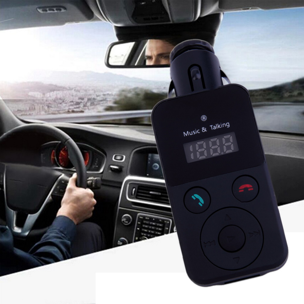 New LCD Bluetooth Car Kit MP3 FM Transmitter SD USB Charger Handsfree for iPhone car charger(China (Mainland))