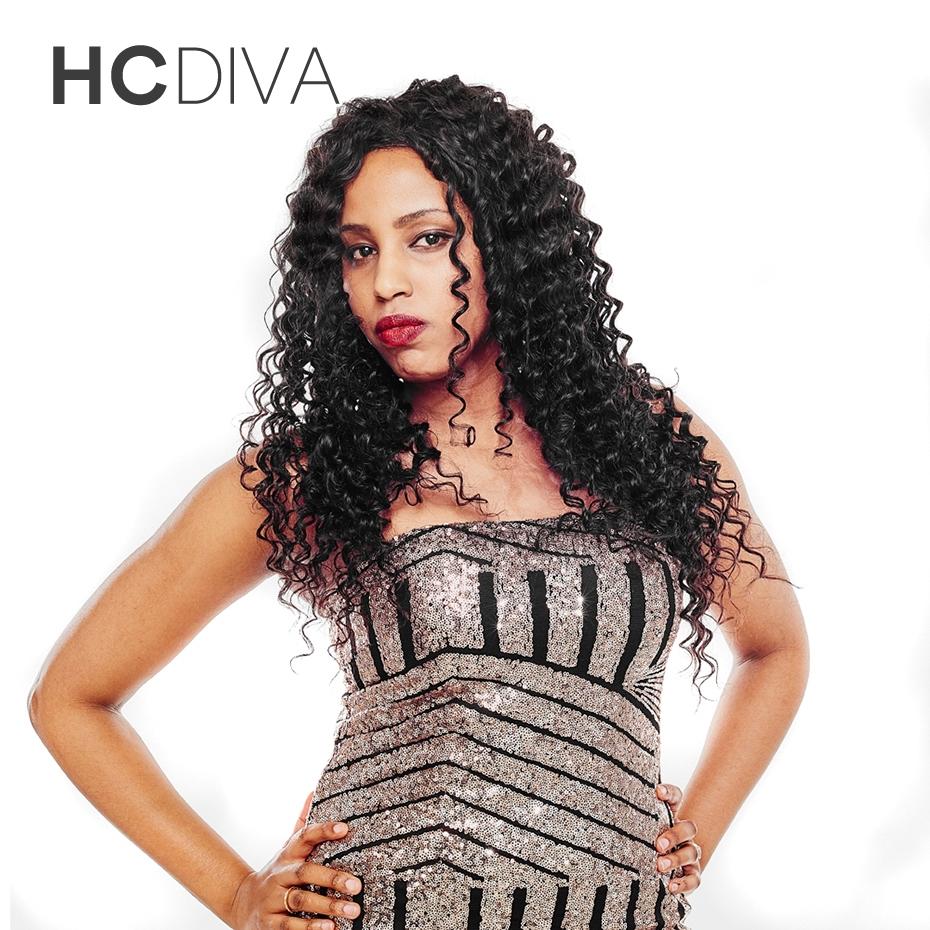 HCDIVA 10″-28″ inch Human Hair Natural Color 1 Bundle Full Health Deep Wave Brazilian Hair Non Remy Natural Black