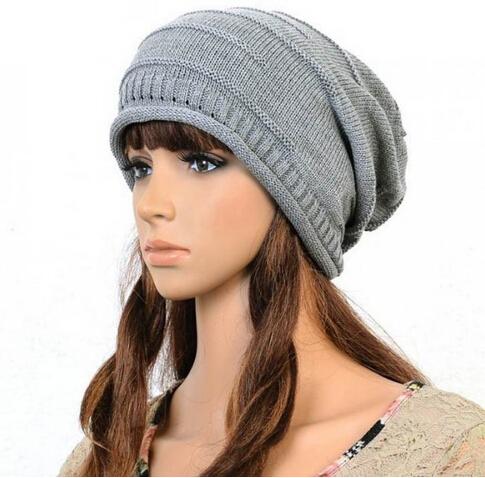 Brand 2014 New Women's Cotton Hip Hop Ring Warm Beanie Cap Winter Autumn Women Knitted Hats Men Beanies Free Shipping(China (Mainland))